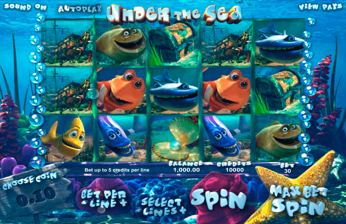 under the sea betsoft casinospil online