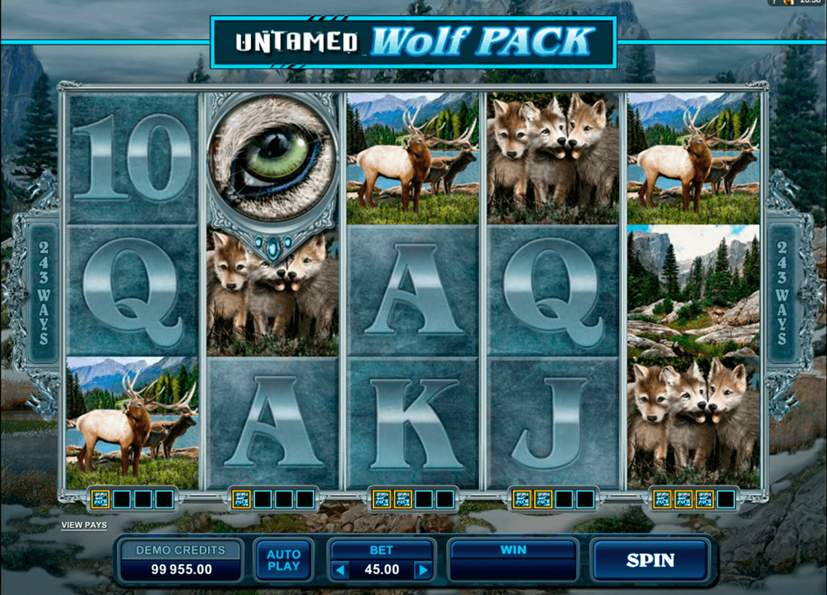 untamed wolf pack microgaming casinospil online