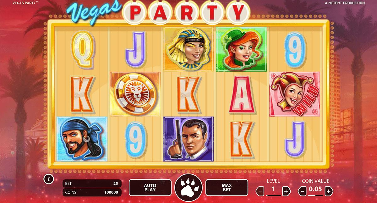 vegas party netent casinospil online