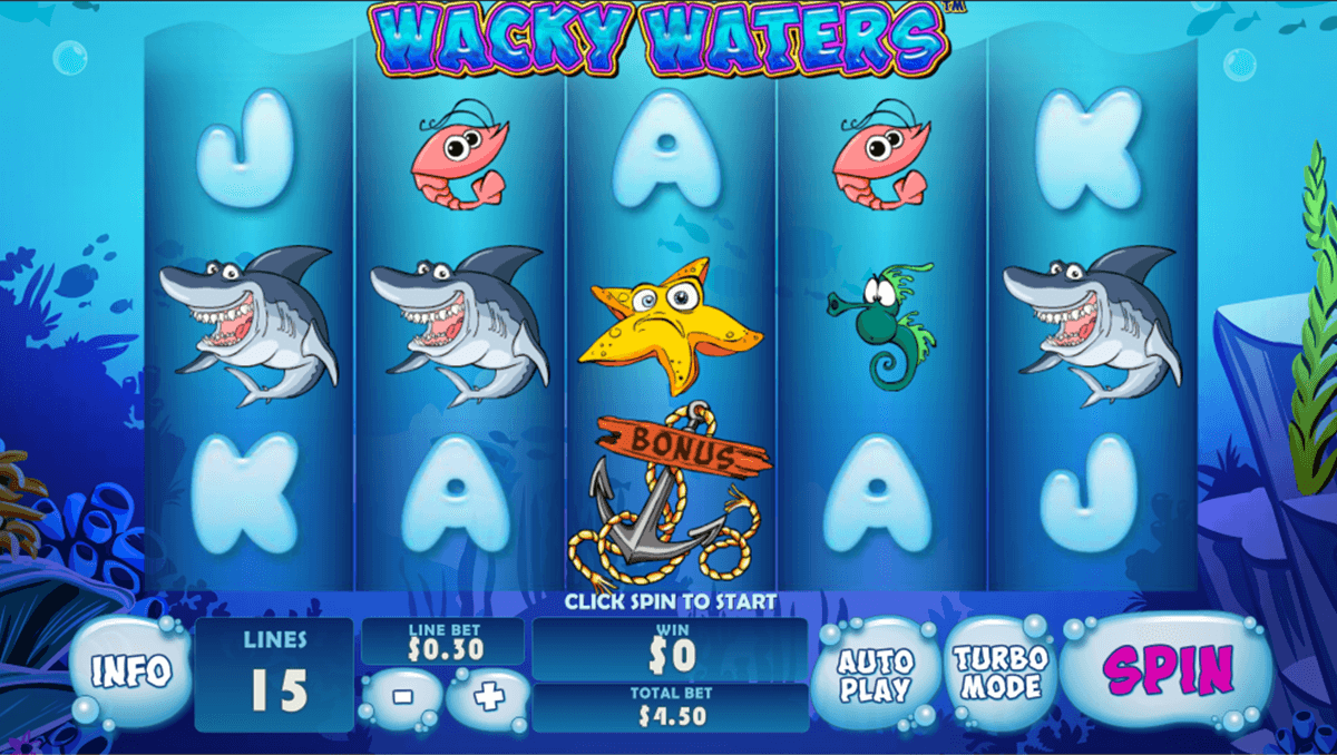 wacky waters playtech casinospil online