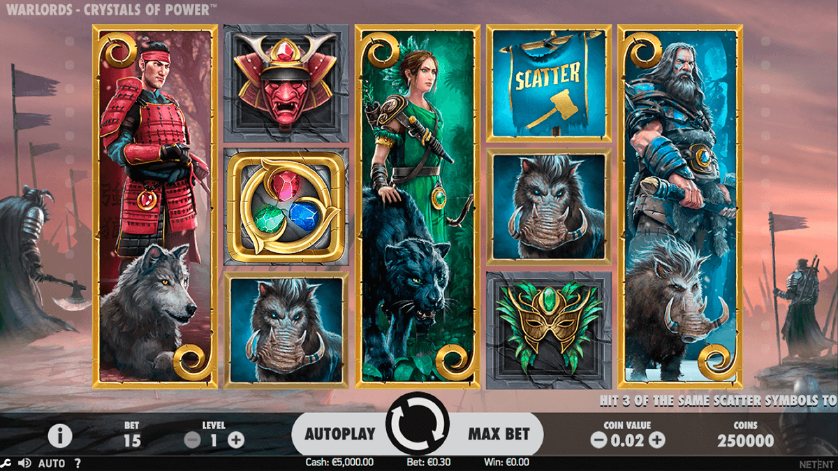 warlords crystals of power netent casinospil online