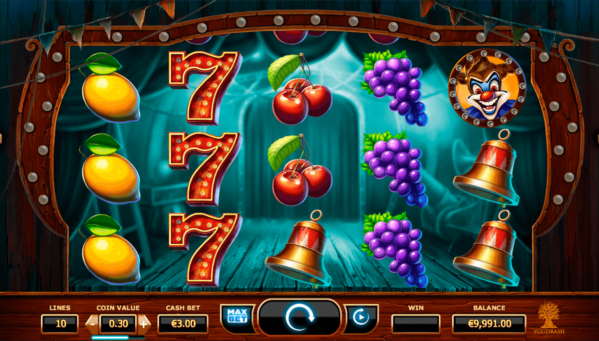 wicked circus yggdrasil casinospil online