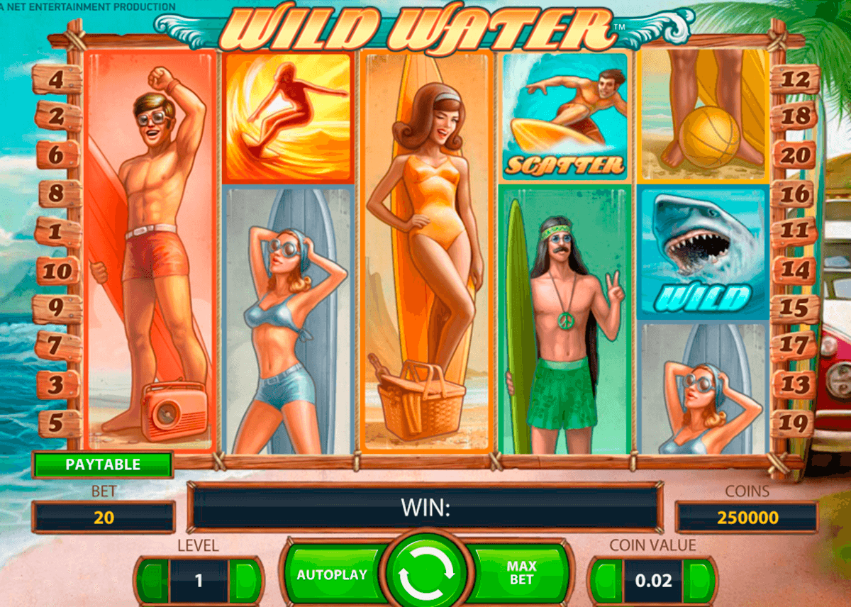 wild water netent casinospil online