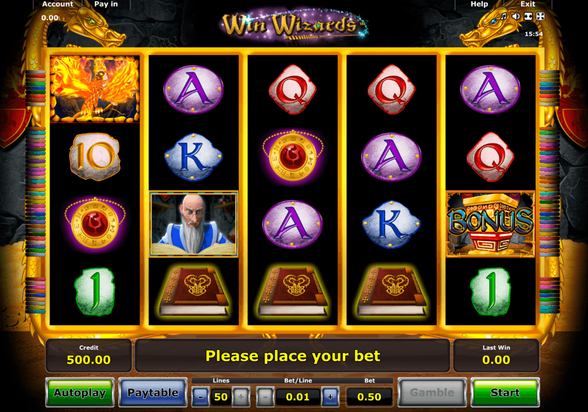 win wizards novomatic casinospil online