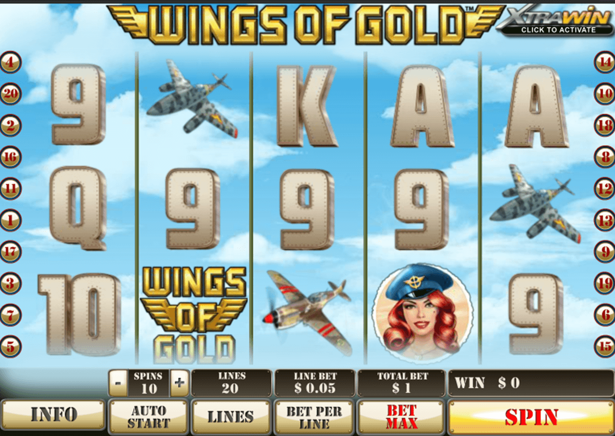 wings of gold playtech casinospil online