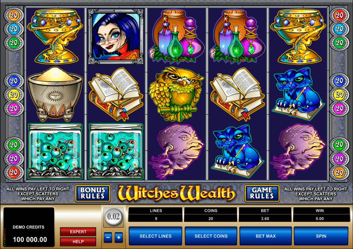 witches wealth microgaming casinospil online