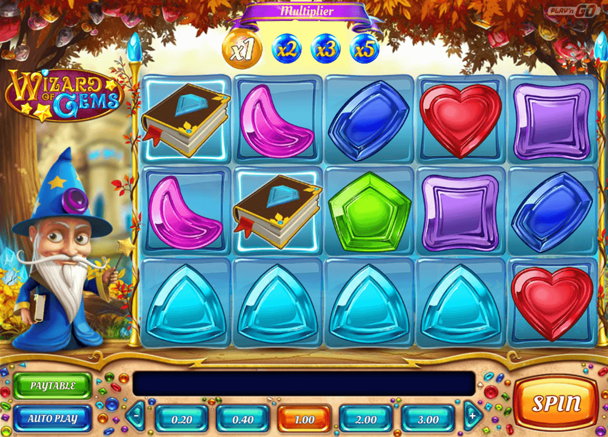 wizard of gems playn go casinospil online