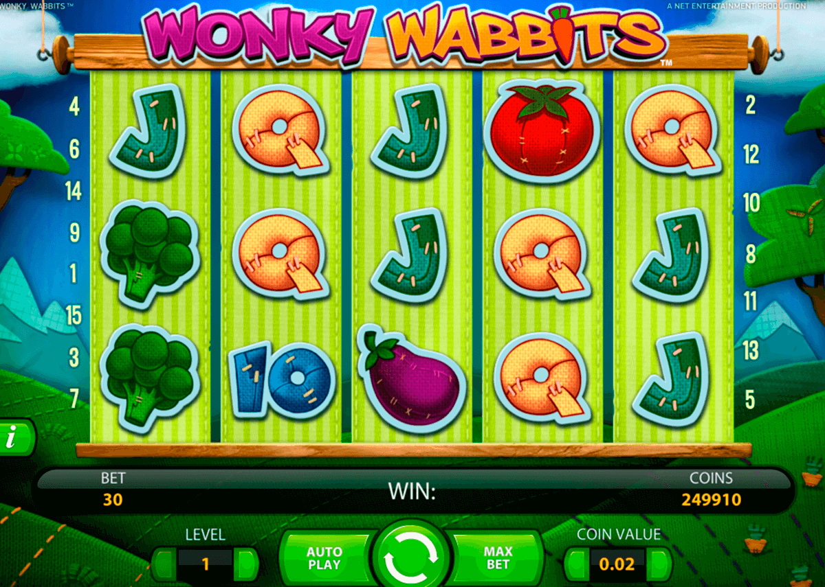wonky wabbits netent casinospil online