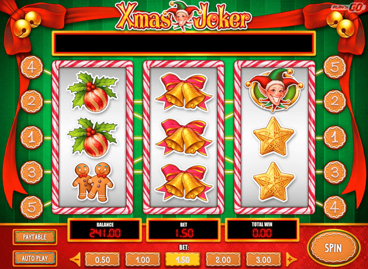 xmas joker playn go casinospil online