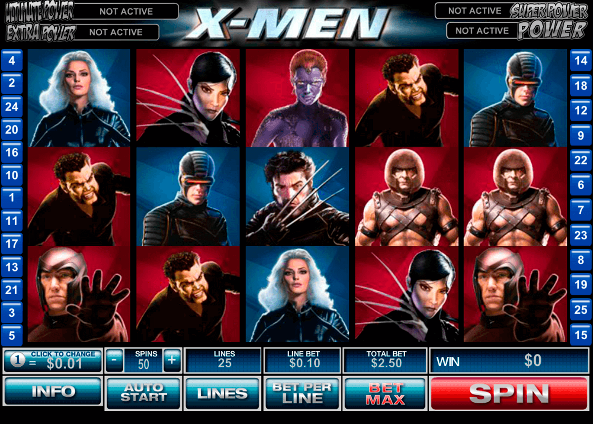 xmen playtech casinospil online